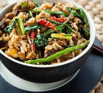 Zielona fasolka z dzikim ryżem, imbirem i malinami - zgodnie z filozofią pięciu przemian