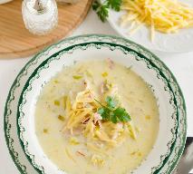 Zupa z porów i serka topionego - przepis na duńską zupę serową